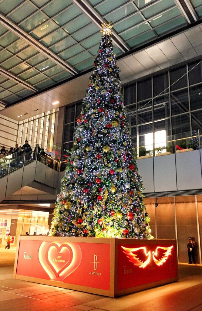 JR名古屋駅ゲートタワー前のクリスマスツリー