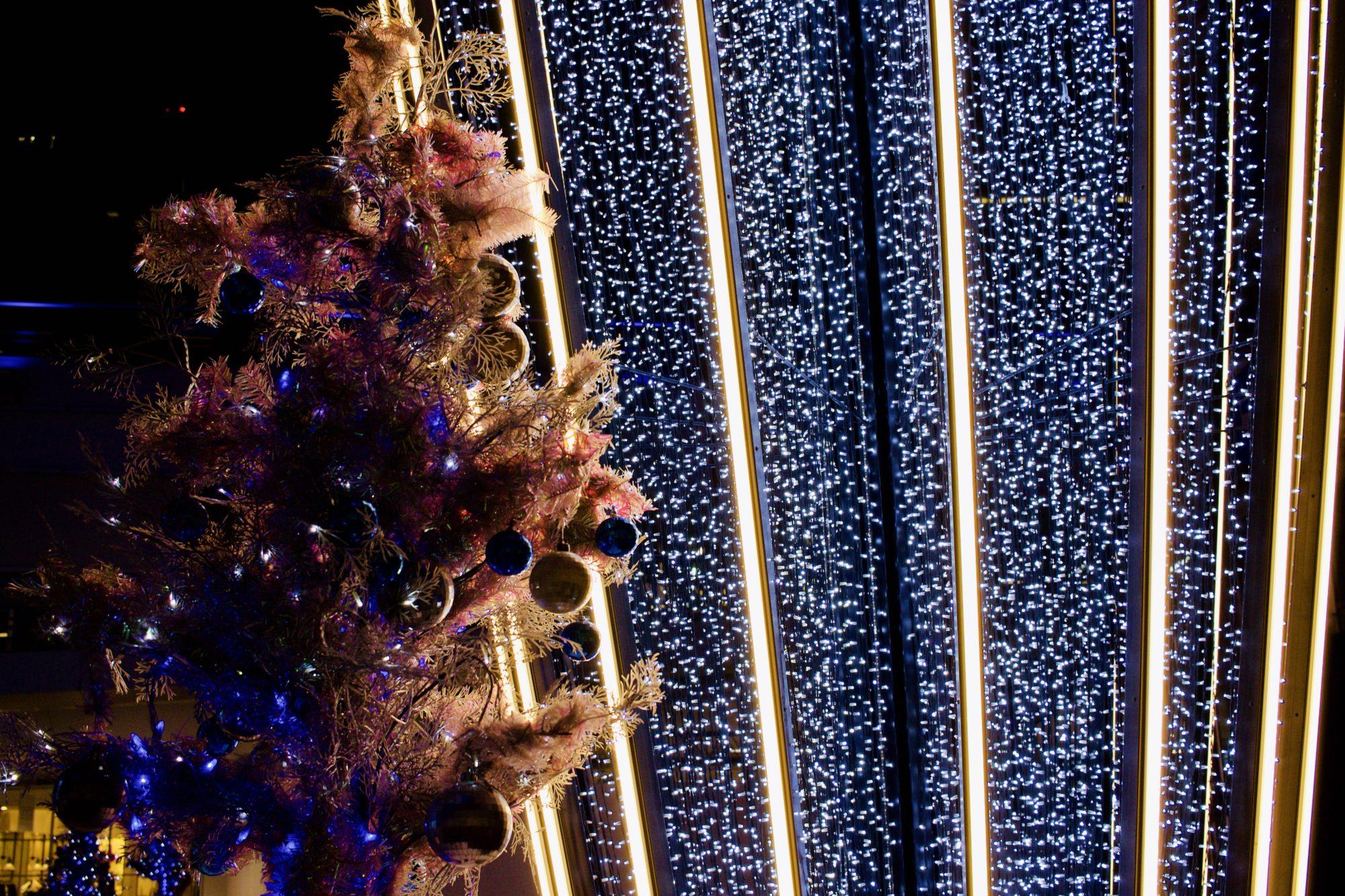 クリスマスのイルミネーションとテレビ塔@名古屋栄