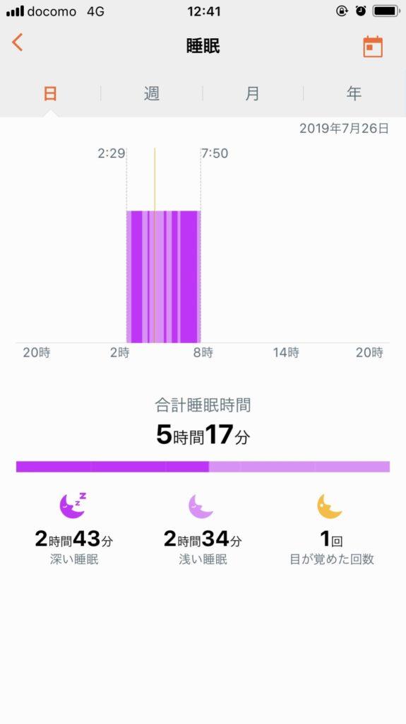 HUAWEI ヘルス睡眠分析